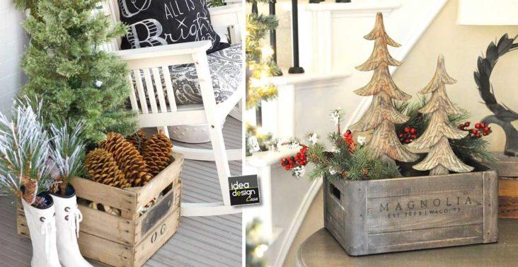 Natale con il riciclo creativo ecco 22 idee per decorare - Decorazioni natalizie con legno ...