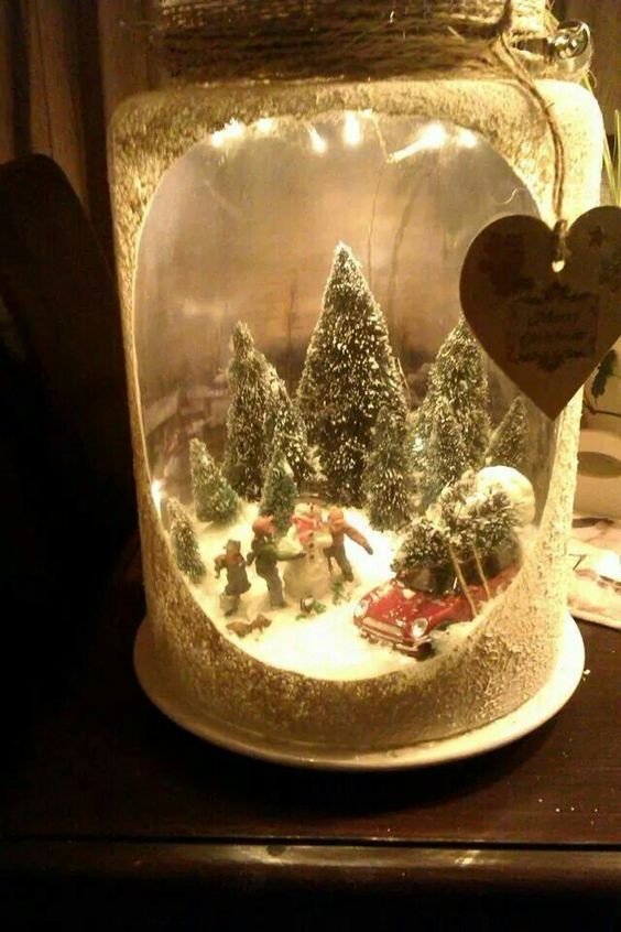 Decorazioni invernali fai da te molto carine per abbellire - Creare decorazioni natalizie ...