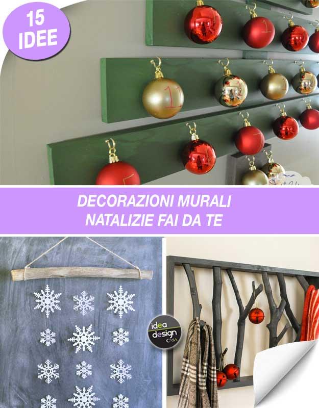 Ben noto Decorazioni murali natalizie fai da te! Ecco 15 idee per ispirarvi PB66