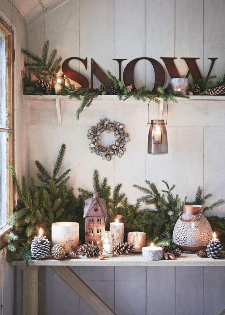Rustic christmas decorations here are 15 inspirational for Northwoods decor