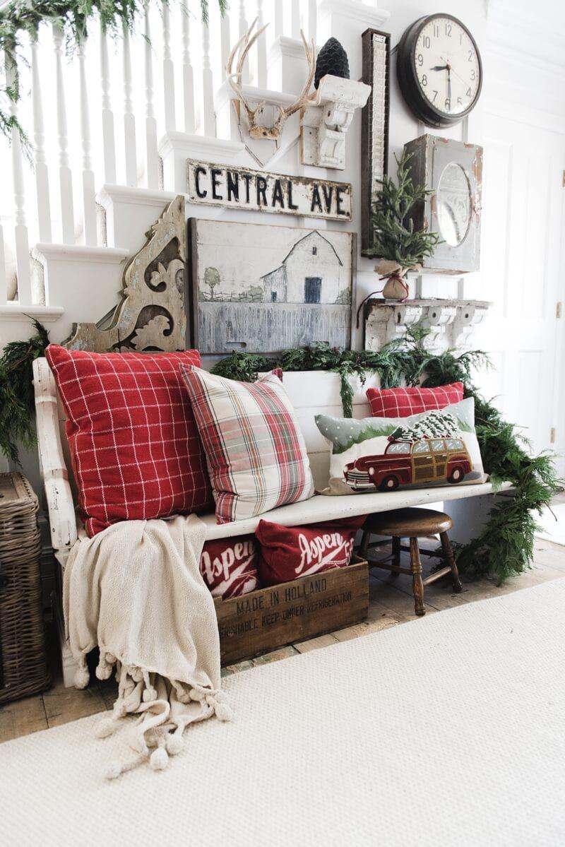 Decorazioni natalizie stile rustico