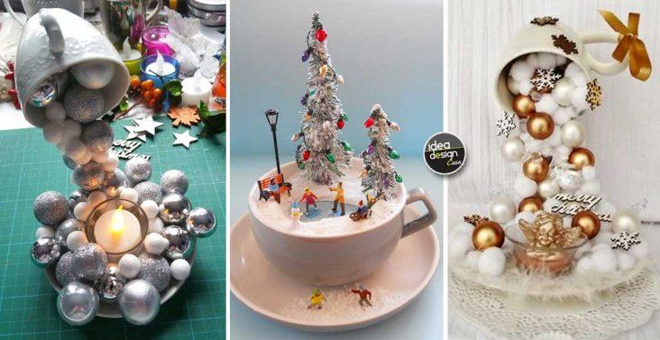 Decorazioni natalizie fai da te con barattoli di vetro 20 for Tazze da regalare a natale