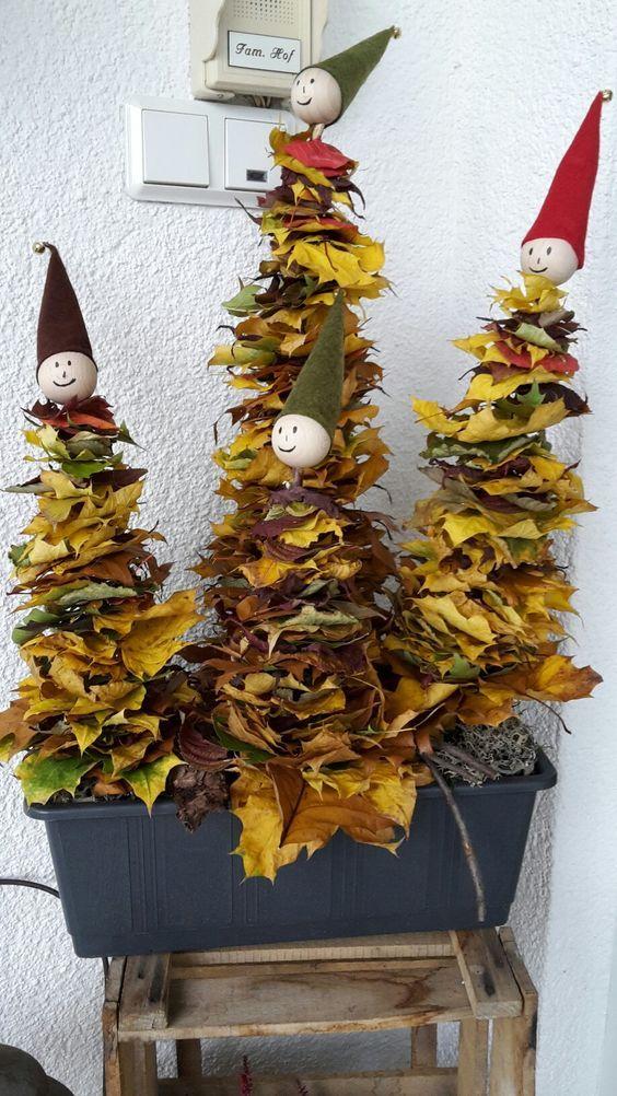 decorare casa con le foglie in autunno ecco 22 idee. Black Bedroom Furniture Sets. Home Design Ideas