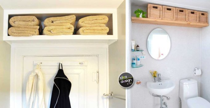 Mensole salvaspazio in bagno ecco 20 idee da cui trarre ispirazione - Mensole da bagno ...