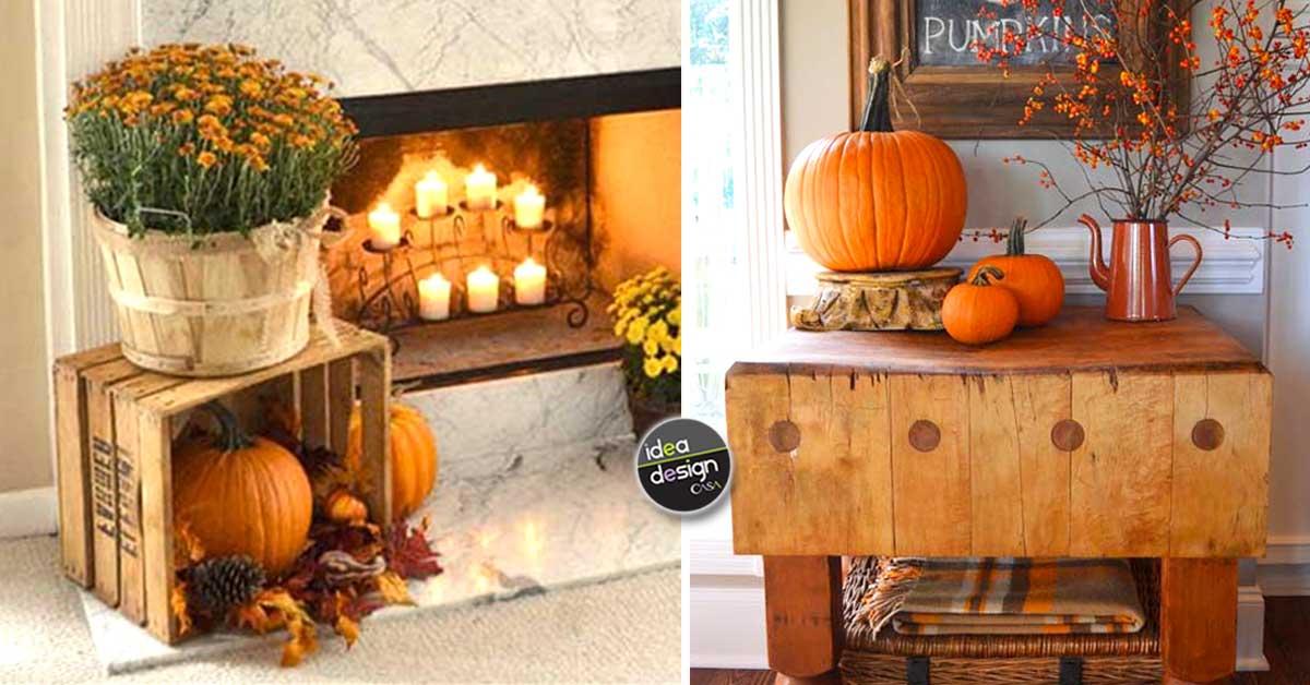 Decorazioni Autunnali Per La Casa : Decorare casa in autunno con un tocco rustico! ecco 20 idee per