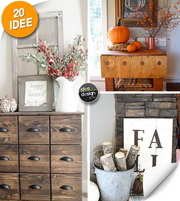 Preferenza Decorare casa in autunno con un tocco rustico! Ecco 20 idee per  VR76