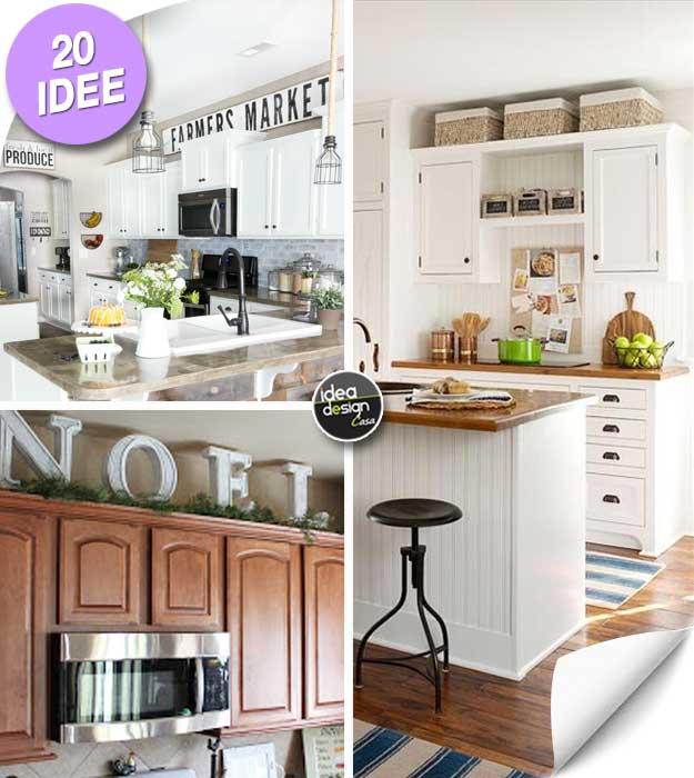 Decorare sopra i pensili della cucina! Ecco 20 idee creative per ...