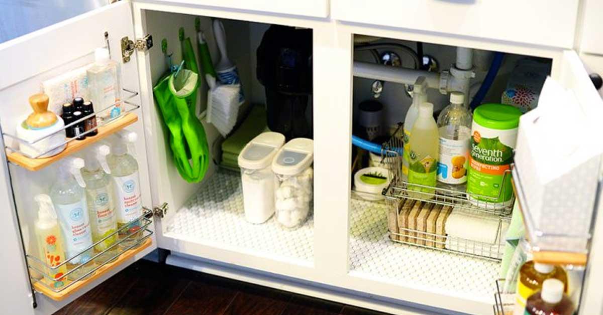 Come organizzare il sotto lavello in cucina! Ecco 15 idee ...