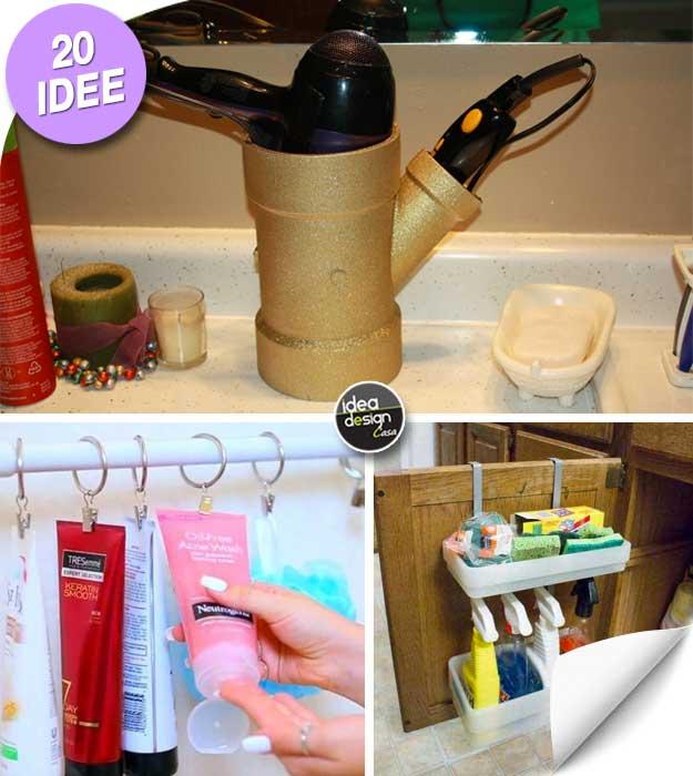 Organizzare il bagno con il fai da te ecco 20 idee furbe - Idea bagno oggi ...
