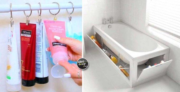 Idee Salvaspazio Bagno : Organizzare il bagno con il fai da te ecco idee furbe a cui