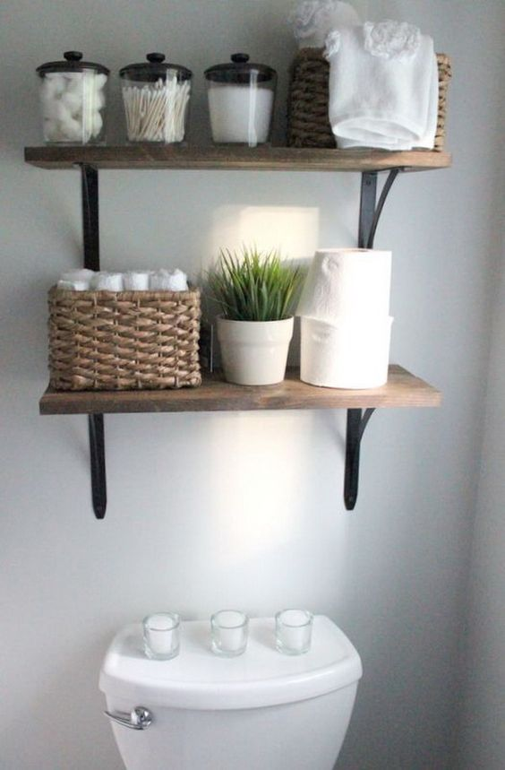 Space Saver Shelves In Bathroom