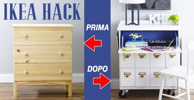 Ikea hack trucchi per aggiungere un tocco chic ad un mobile ikea