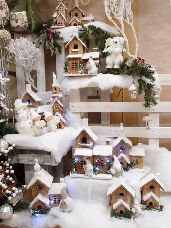Un mini villaggio di natale nella tua casa ecco 15 idee per ispirarvi - Decorazioni natalizie esterne ...