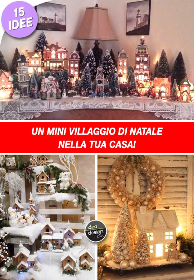 Favoloso A mini Christmas village in your home! Here are 15 ideas to  KH41