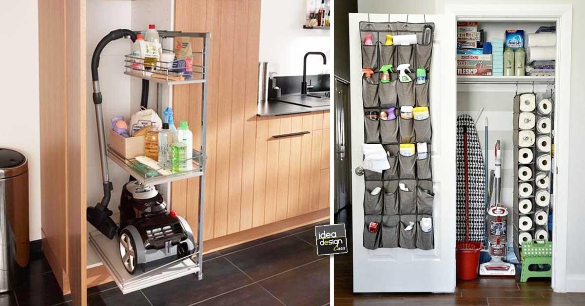 Organizzare il ripostiglio dei prodotti per le pulizie ecco 15 idee per ispirarvi - Idea design casa ...