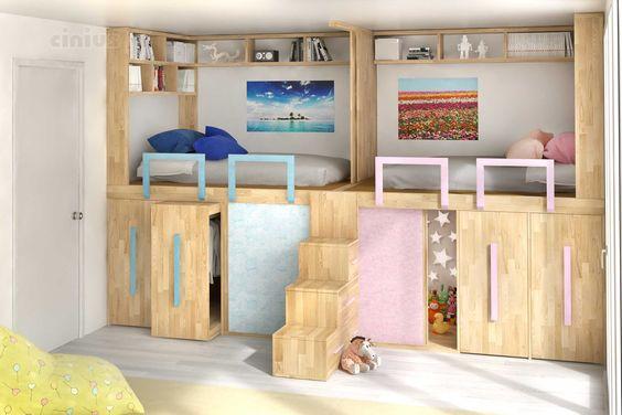 Guadagnare spazio in camera dei bambini ecco 15 idee per - Cameretta dei bambini ...