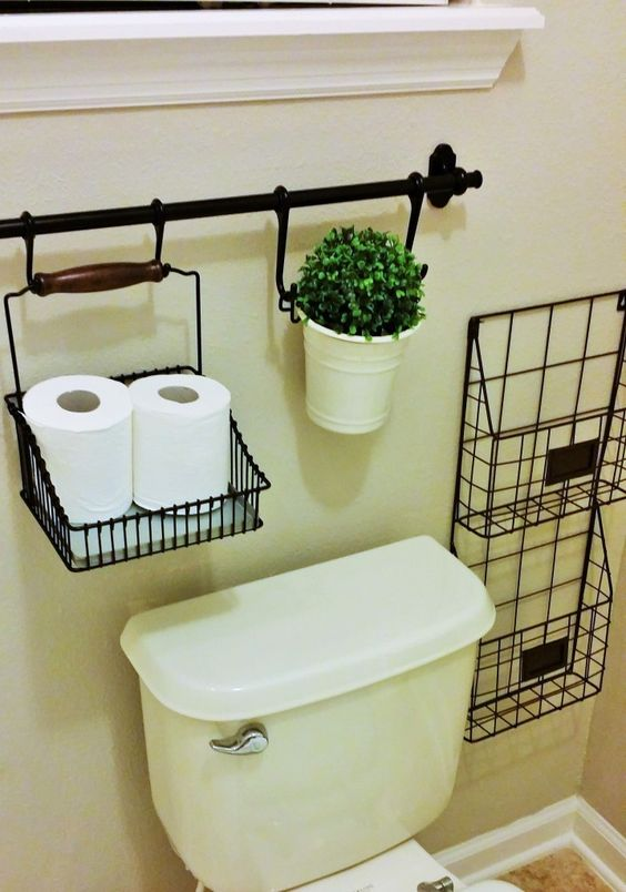 how to retrieve space above the toilet to optimize the bathroom idea 3 - Bathroom Decorating Ideas For Over The Toilet