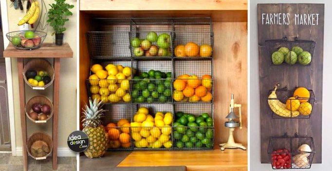 Conosciuto Sistemare frutta e verdura in una piccola cucina! Ecco 18 idee per  MK78