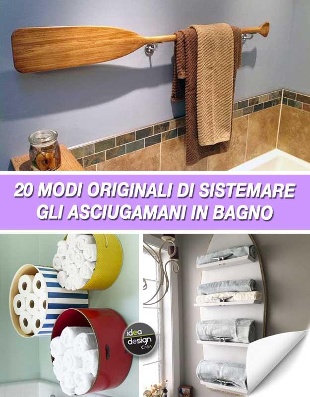 Come sistemare gli asciugamani in bagno 20 idee originali - Idea bagno oggi ...