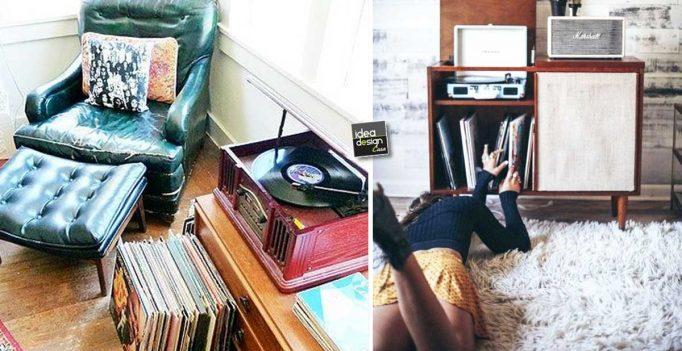 Un angolo music per decorare casa con un tocco vintage 20 - Stile vintage casa ...