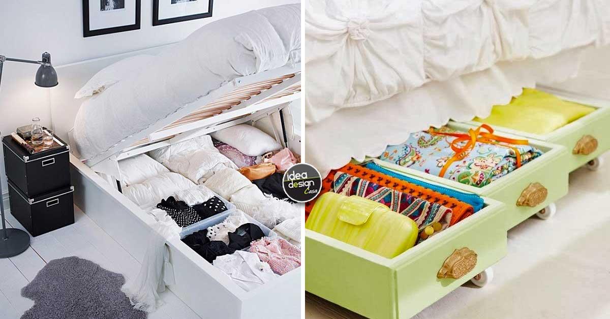 Sfruttare lo spazio sotto il letto ecco 20 idee per - Tv a scomparsa sotto il letto ...