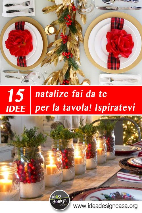 Addobbi natalizi fai da te per la tavola 15 idee per - Creare decorazioni natalizie ...