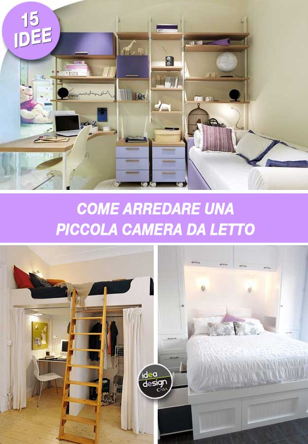Idee camere da letto piccole mp15 pineglen for Idee per arredare camera da letto piccola