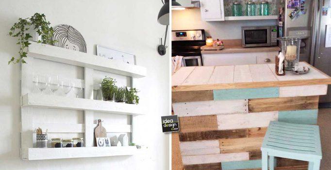 Riciclare dei bancali per arredare la cucina ecco 15 idee creative - Come utilizzare i pallet per arredare casa ...