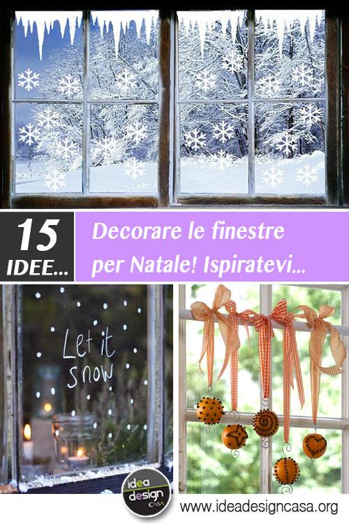 Decorare le finestre per natale ecco 15 idee bellissime - Finestre decorate per natale ...