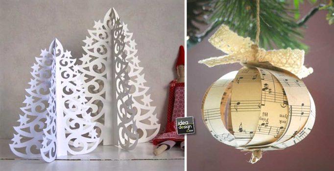 Decorazioni natalizie fai da te con la carta 15 idee per for Creazioni casa fai da te