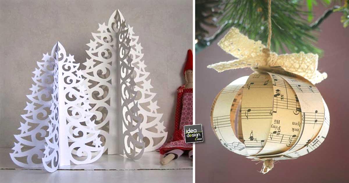 Decorazioni natalizie fai da te con la carta 15 idee per ispirarvi - Decorazioni natalizie in legno fai da te ...