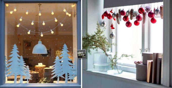Decorare le finestre per natale ecco 15 idee bellissime - Decorazioni natalizie finestre ...