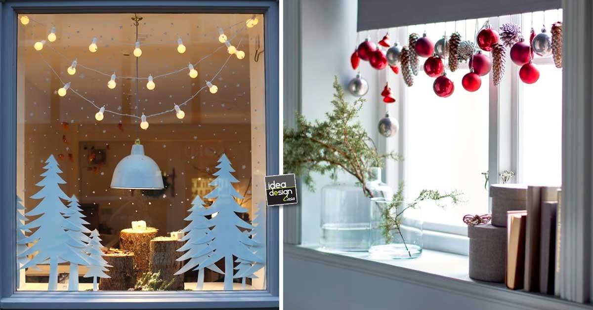 Decorare le finestre per natale ecco 15 idee bellissime for Decorazioni cucina fai da te