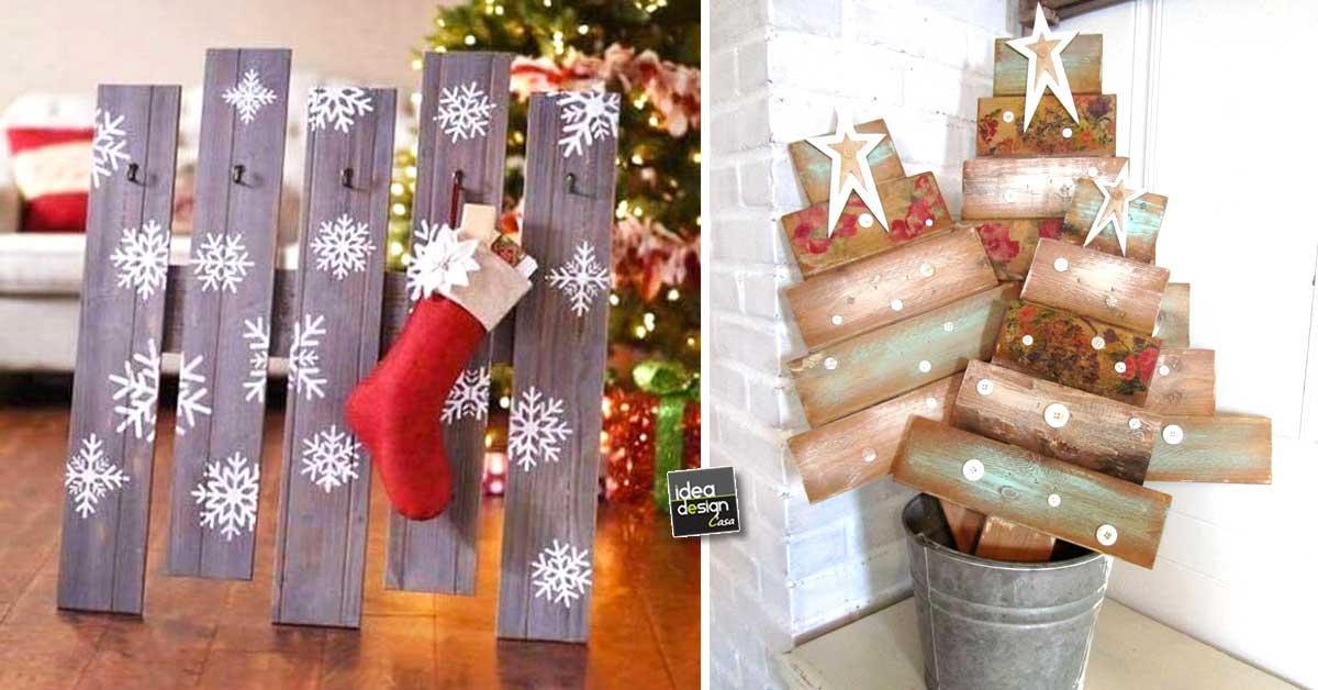 Un bancale di natale fai da te lasciatevi ispirare con - Idee per decorazioni natalizie per la casa ...
