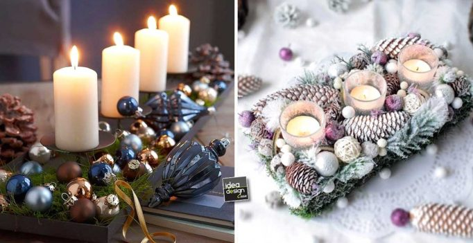 Addobbi natalizi fai da te per la tavola 15 idee per ispirarvi - Addobbi natalizi per la porta ...