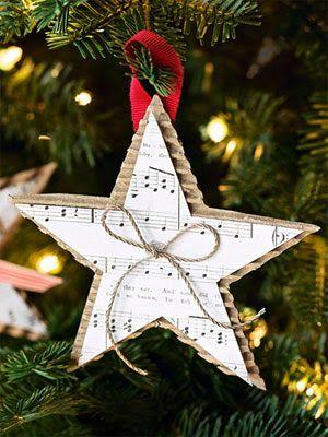 Decorazioni natalizie fai da te per l'albero di natale realizzati con la carta.