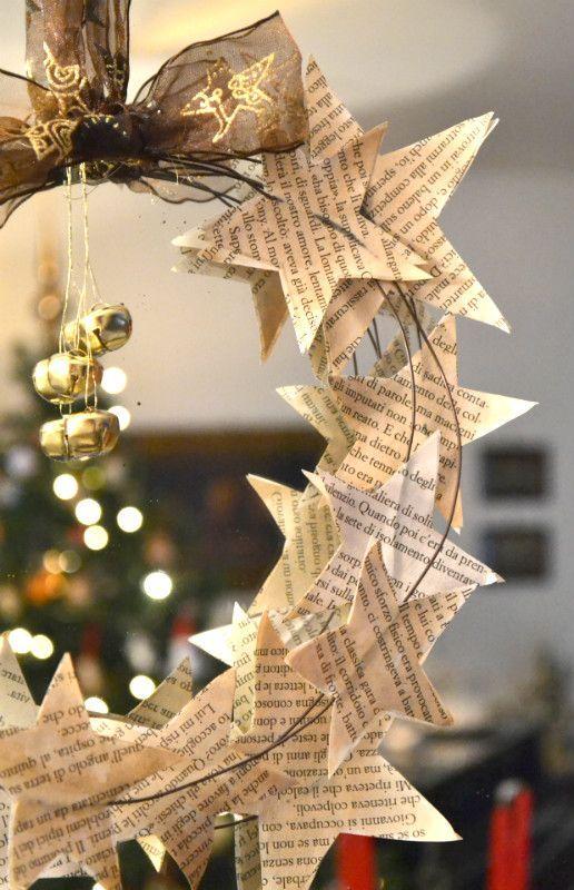 Decorazioni natalizie fai da te con la carta 15 idee per for Fai da te decorazioni casa