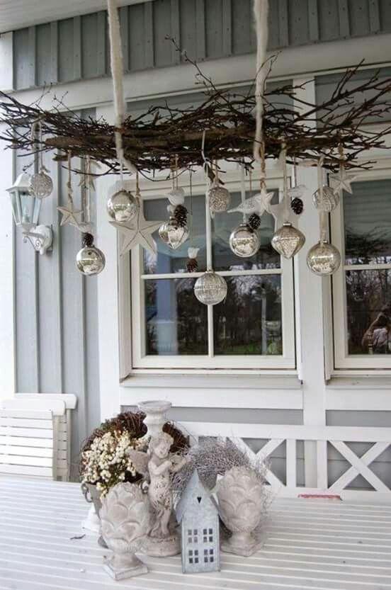 Decorazioni sospese per natale 15 bellissime idee per ispirarvi - Winterdeko balkon ...