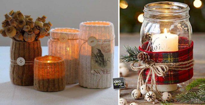 Portacandele Da Giardino : Portacandele natalizio con il riciclo creativo ecco idee per