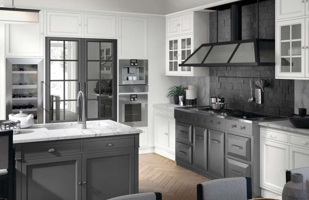 Cucina bianca e grigia ispiratevi con questi 15 esempi buona visione - Cucina moderna bianca e grigia ...