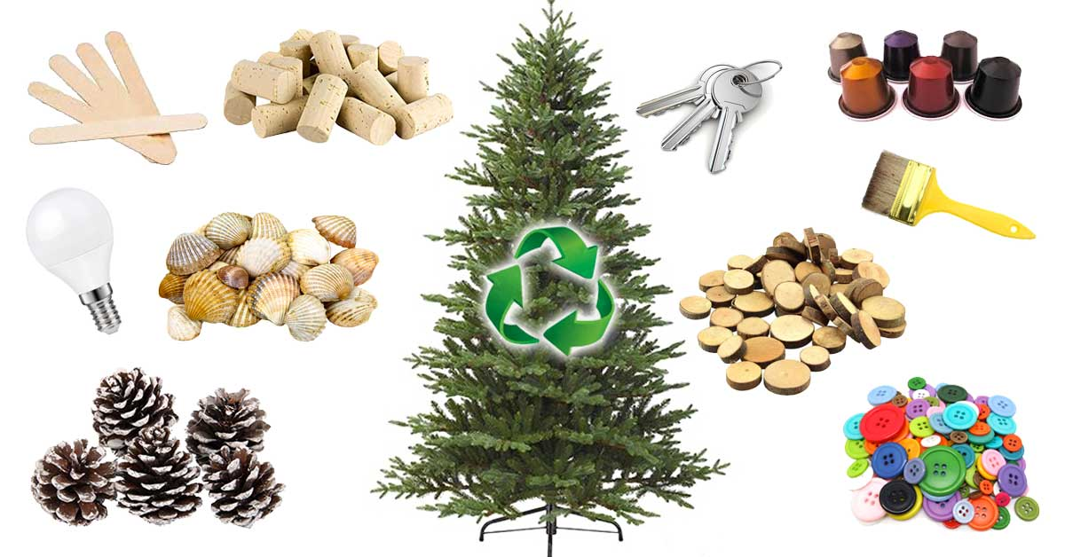 Natale con il riciclo creativo ecco 22 idee per decorare - Decorare albero di natale idee ...