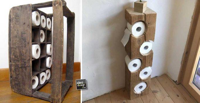 Idee Originali Per Il Bagno : Sistemare la carta igienica in bagno! ecco 15 idee per ispirarvi