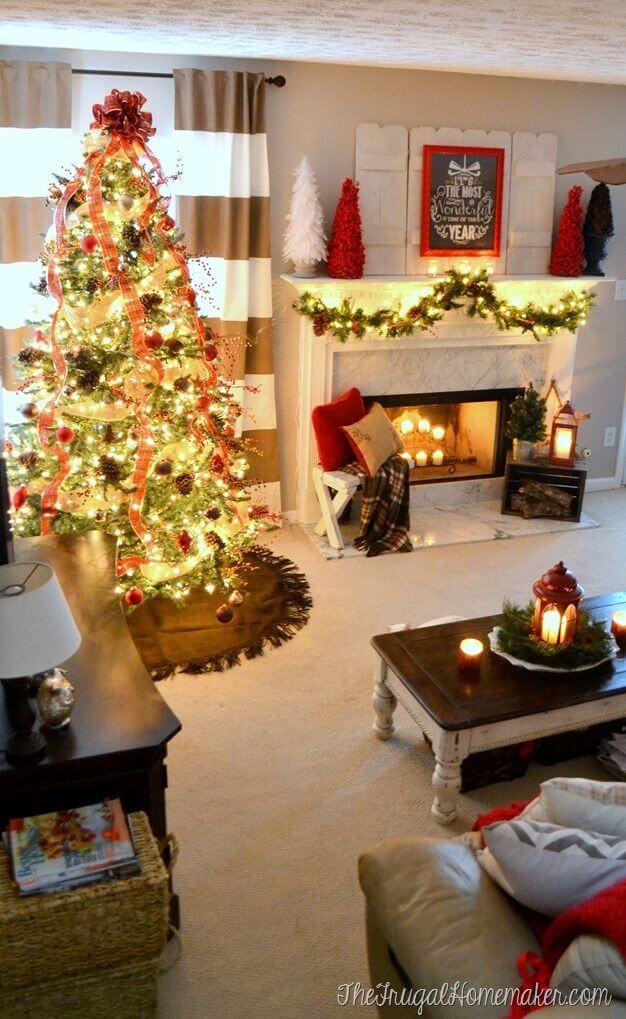Come decorare il soggiorno per Natale