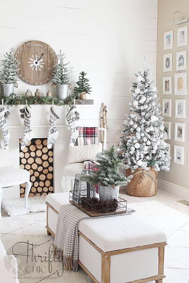 Decorare il soggiorno per Natale! La risposta in 20 bellissime foto...