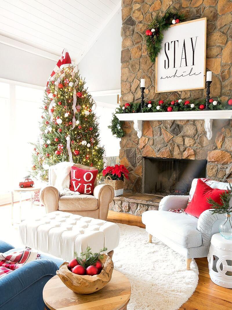 Natale Idea.Decorare Il Soggiorno Per Natale La Risposta In 20