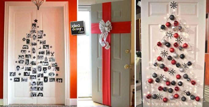 Decorare le porte per natale con fantasia ecco 11 idee per ispirarvi - Decorare finestre per natale ...