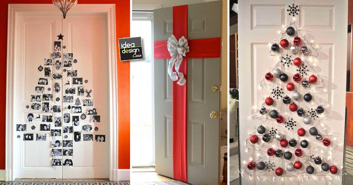 Decorare le porte per natale con fantasia ecco 11 idee for Decorazione di casa