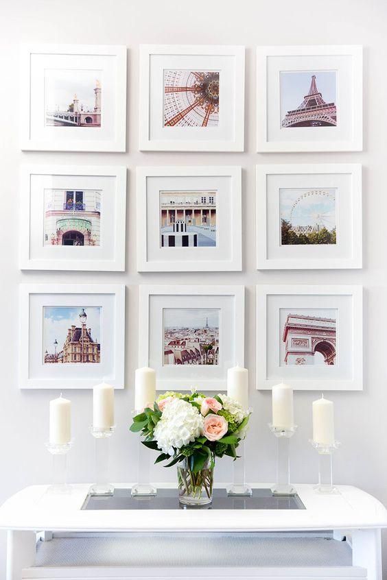 Una parete di quadri per decorare casa in modo creativo - Decorare una parete ...