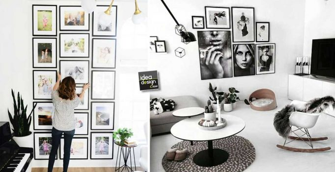 Una parete di quadri per decorare casa in modo creativo 15 idee originali - Idee per decorare pareti di casa ...