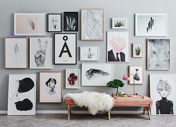 Una parete di quadri per decorare casa in modo creativo - Documenti per affittare una casa ...